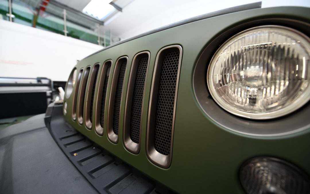 Wrapping a Jeep Wrangler